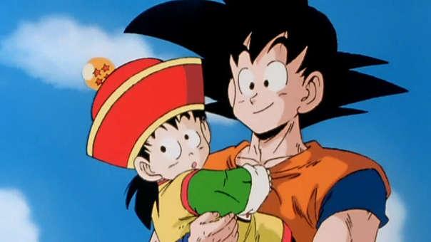 Gohan niño y Goku