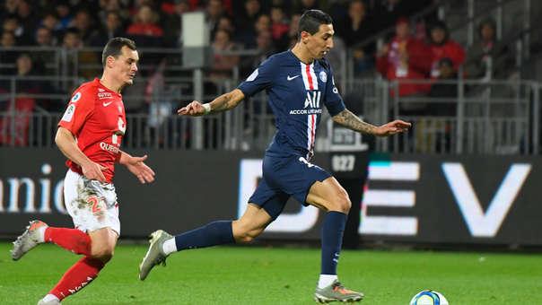 Angel Di María anotó el 1-0 para PSG ante Brest por la Ligue 1