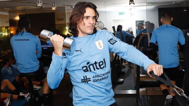 Edison Cavani volvió a la Selección de Uruguay