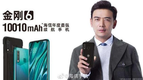 Hisense ha creado un celular con más batería que muchos power banks.