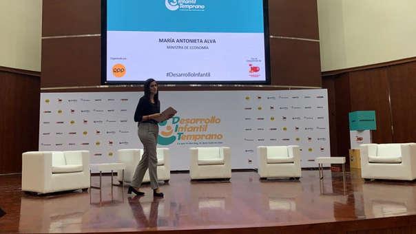 La ministra de Economía, María Antonieta Alva, indicó que debemos tener como prioridad las cifras de los indicadores de desarrollo infantil temprano.