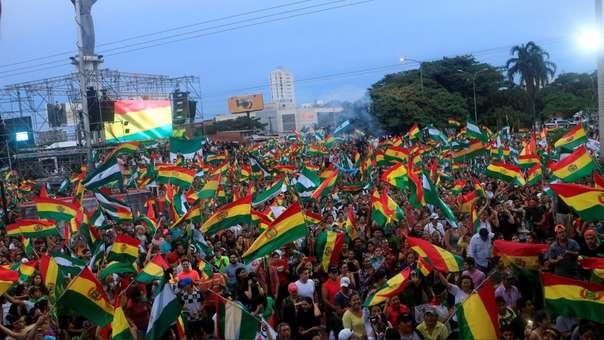 Protestas sociales en Bolivia.