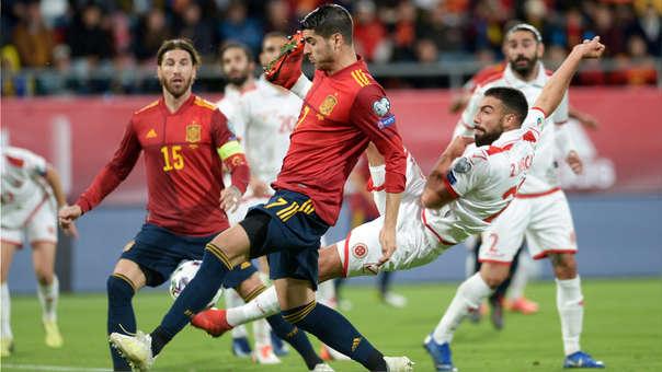 Álvaro Morata abrió el marcador en el España vs. Malta por Eliminatorias de la Eurocopa 2020