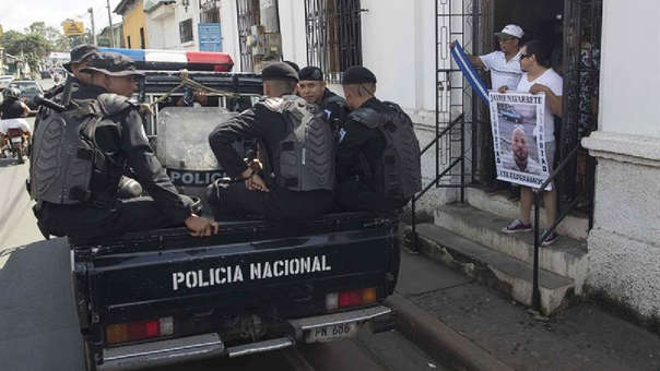 Fotografía referencial de la policía en Nicaragua