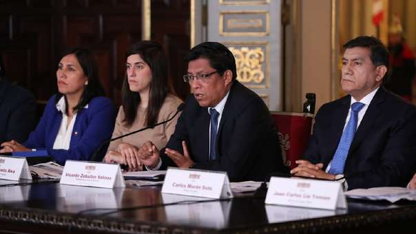 Vicente Zeballos y parte del Gabinete Ministerial presentaron parte del Presupuesto 2020.