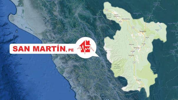 Un sismo se registró esta tarde en Nueva Cajamarca, San Martín