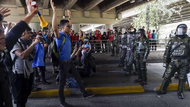 Protestas en Colombia.