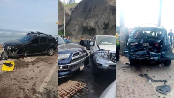 Accidente vehicular en Miraflores
