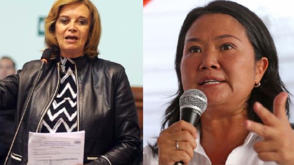 Luisa María Cuculiza y Keiko Fujimori