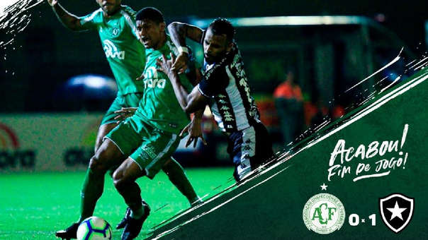 Chapecoense perdió 1-0 ante Botafogo por el Brasileirao