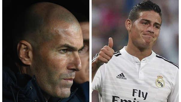 No piensa dejarlo ir: Zinedine Zidane sobre James Rodríguez: