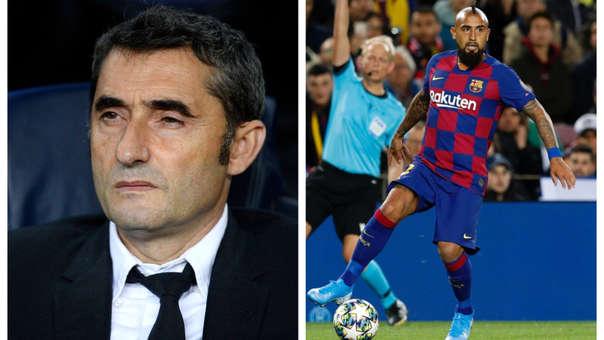 Ernesto Valverde respondió a las 'amenazas' de Arturo Vidal de dejar Barcelona