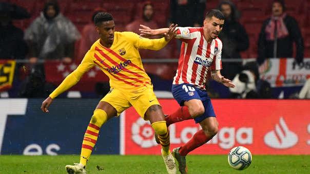 Junior Firpo casi marca autogol en el Barcelona vs. Atlético de Madrid