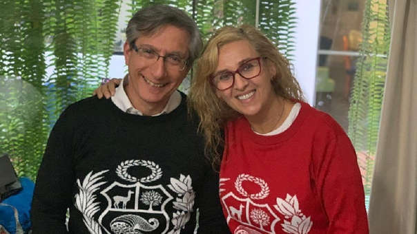 Katia Condos y Federico Salazar