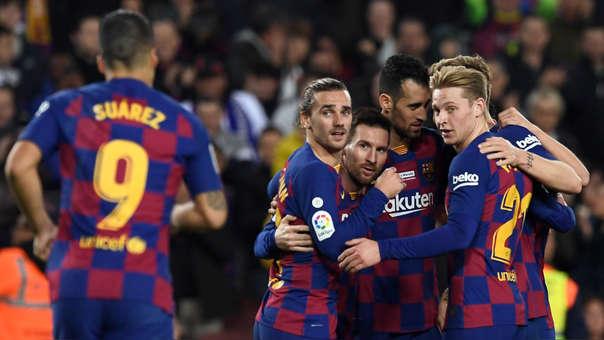 Ernesto Valverde elogió al tridente Messi, Suárez y Griezmann en la victoria de Barcelona sobre Mallorca