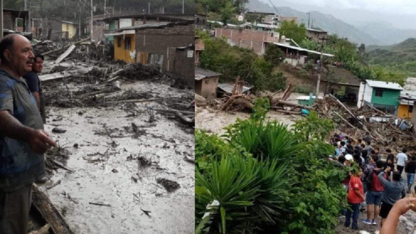 Viviendas del barrio de Huancabamba afectadas.