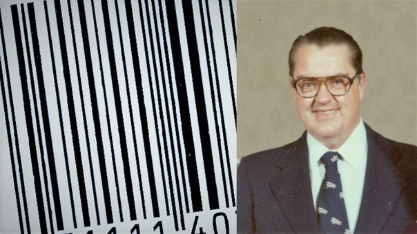 George Laurer diseño un escáner para leer de manera eficiente los códigos de barra