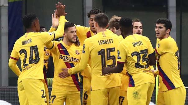 Sufre Inter y celebra Barcelona: asistencia de Griezmann y gol de Pérez
