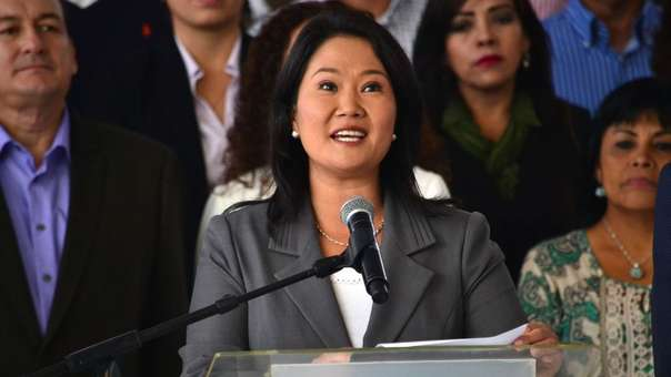 Keiko Fujimori se encuentra en libertad por orden del Tribunal Constitucional.