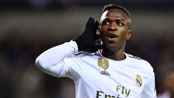 Apareció en el área y no perdonó: el golazo de Vinicius en la Champions League