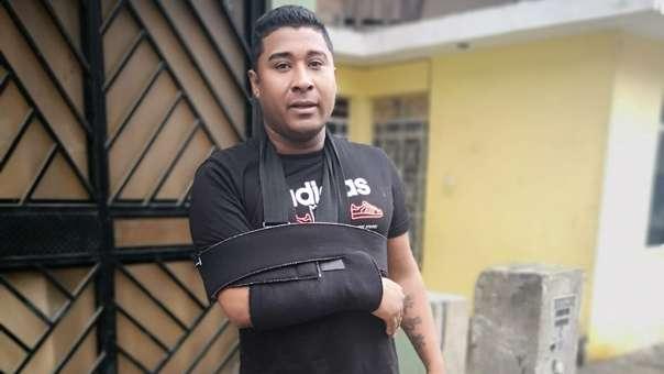 Luis Miguel Vega Palacios, uno de los sobrevivientes del trágico accidente.