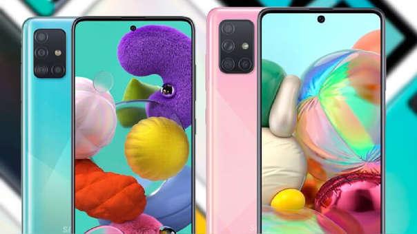 Samsung Galaxy A51 y A71.