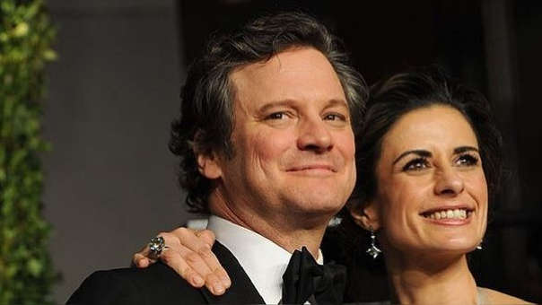 Colin Firth y esposa