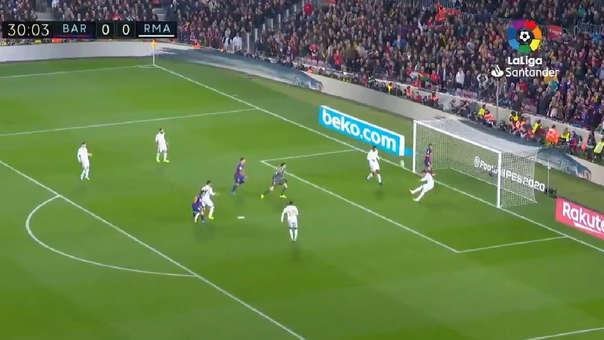 Tantas veces Sergio Ramos: la heróica salvada del capitán del Madrid ante el Barza