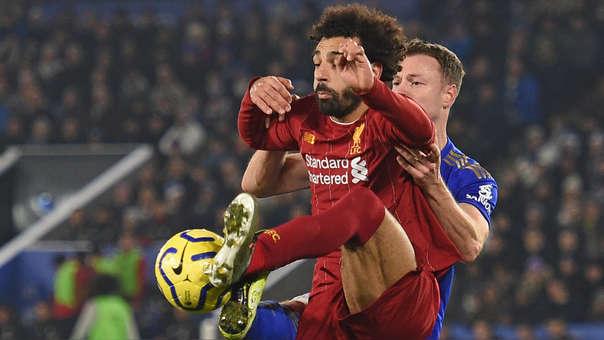 Mohamed Salah perdió inmejorable ocasión de gol ante Leicester City por la Premier League