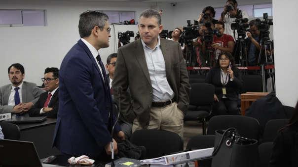 El fiscal Vela estuvo presente en la audiencia de prisión preventiva.