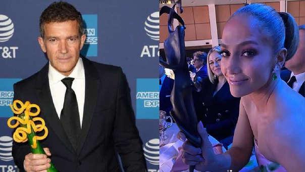 Jennifer Lopez y Antonio Banderas recibieron galardón en el Festival de Cine de Palm Springs