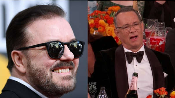 Ricky Gervais provocó que algunos asistentes no se sintieran a gusto en la ceremonia de los Globos de Oro 2020,