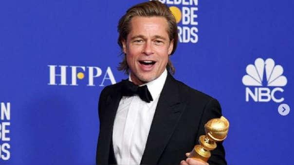 Brad Pitt en los Globos de Oro 2020