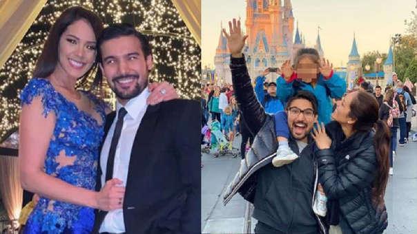 Karen Schwarz y Ezio Oliva disfrutan vacaciones en Disney