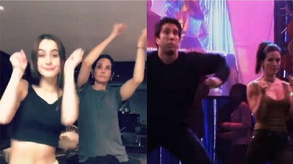 Courteney Cox compartió un divertido momento junto a su hija y provocó nostalgia entre los fanáticos de