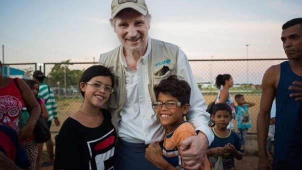 Liam Neeson realizó sus actividades como embajador de Unicef.