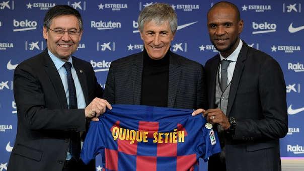Quique Setién presentado como entrenador del Barcelona.
