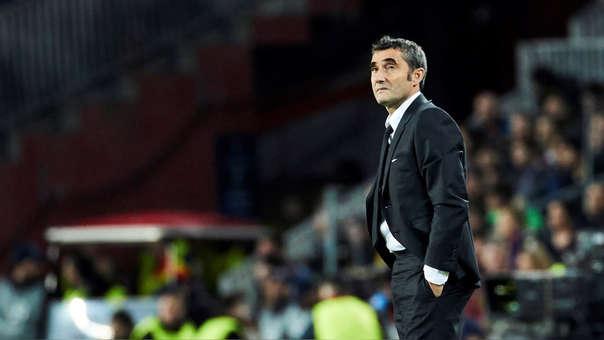 Valverde ganó dos títulos de Liga con el Barcelona.