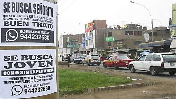 La tasa de desempleo en Lima Metropolitana se ubicó en 6.6% en el año 2019, reportó el INEI.