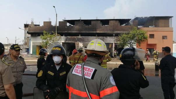 Incendio en El Agustino