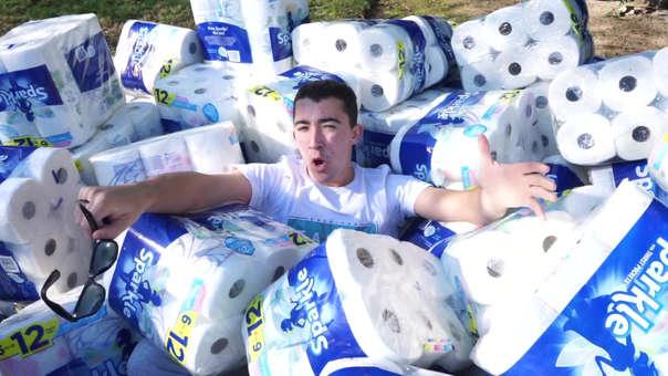 Gastó 100 mil hojas de papel toalla.