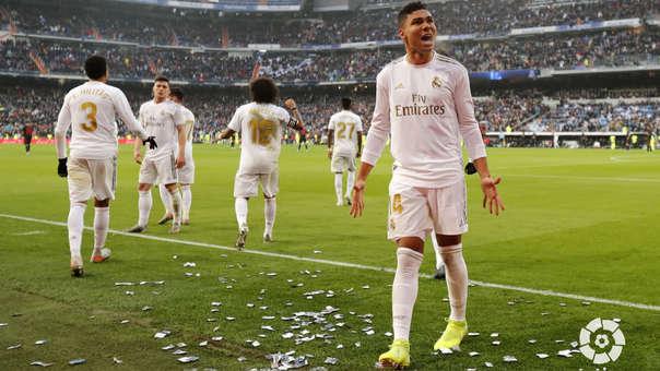 Casemiro marcó su primer doblete con Real Madrid.