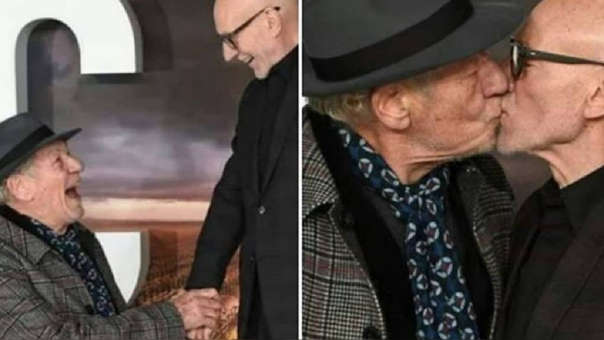 Ian McKellen y Patrick Stewart