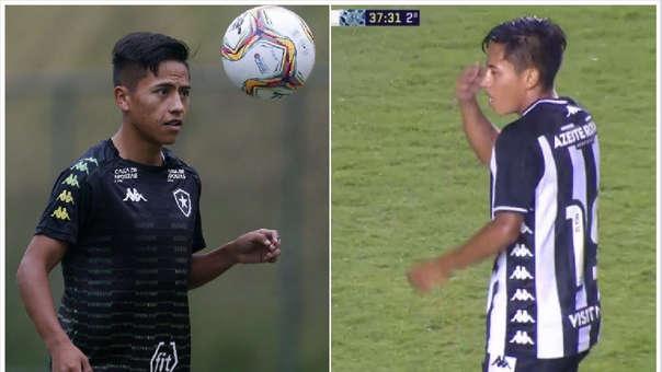 Alexander Lecaros debutó con el Botafogo de Brasil.