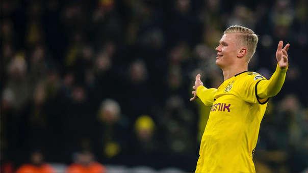 Erling Haaland marcó un doblete en el triunfo del Borussia Dortmund.