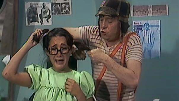 ¿Fue real la escena de corte de pelo a la Chilindrina?