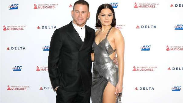 Channing Tatum y Jessie J en la gala de la Persona del Año MusiCares 2020.