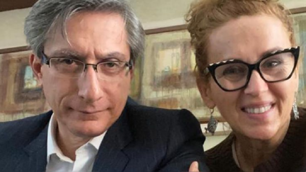 Katia Condos y Federico Salazar donaron sangre por tragedia en Villa El Salvador.