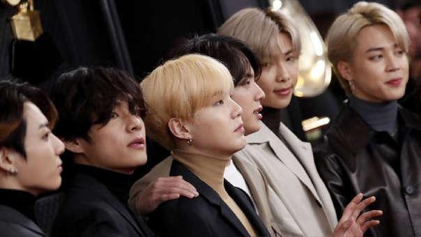 BTS en los Grammy 2020.
