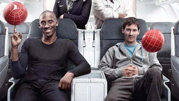 Kobe Bryant y Lionel Messi